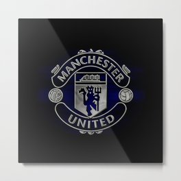 Manchester United Black Edition Metal Print