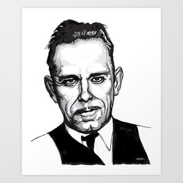 John Dillinger Mug Shot Art Print