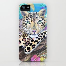Lazy Leopard in the Jungle iPhone Case