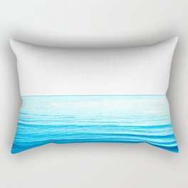 Blue Ocean Illustration Rectangular Pillow