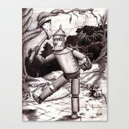The Tin Man Gets His Heart Canvas Print