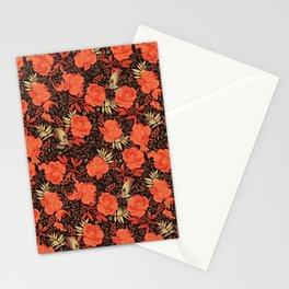 Art nouveau florals Stationery Cards