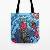 odd future Tote Bags featuring ODD FUTURE by TheArtGoon