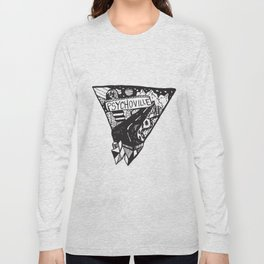 Psychoville black ink drawing Long Sleeve T-shirt