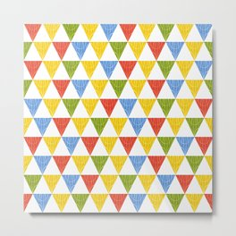 triangle abstract ethnic pattern Metal Print