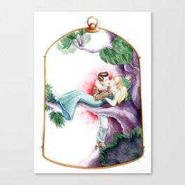 Sleeping Beauty, Cage Canvas Print