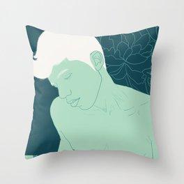 Succulent Boy Throw Pillow