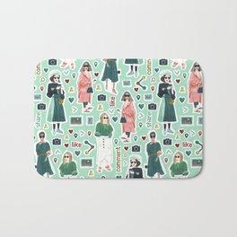 Social Girls 1 Bath Mat