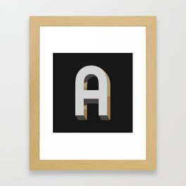 Type Seeker - A Framed Art Print