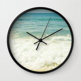 Ocean Beach Love Kapalua Blue Maui Hawaii Wall Clock
