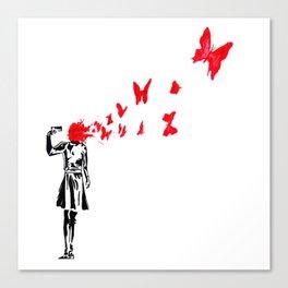 banksy gun Canvas Print