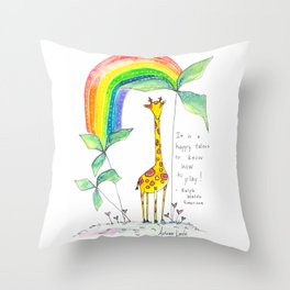 A Happy Talent Throw Pillow