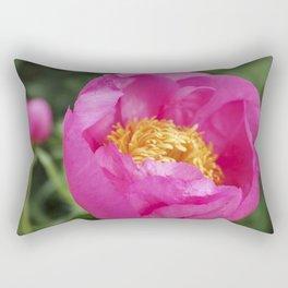 Peony Firelight - glowing pink petals Rectangular Pillow