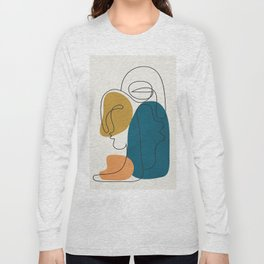 Abstract Faces 26 Long Sleeve T-shirt