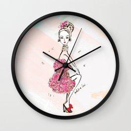 Carnation Girl Wall Clock