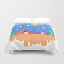 Tiny Worlds - Super Mario Bros. 2: Toad Duvet Cover