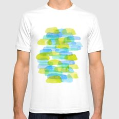 Watercolor 001 Mens Fitted Tee White MEDIUM