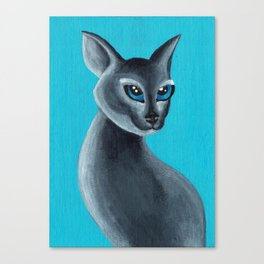 Big Blue Eyes Canvas Print