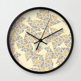 Earthtone Pyramids Wall Clock