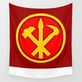 Workers Party of Korea emblem symbol Wall Tapestry