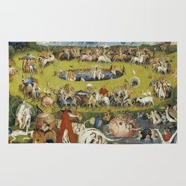 THE GARDEN OF EARTHLY DELIGHT - HEIRONYMUS BOSCH Rug