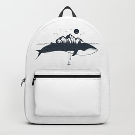 Whale And Mountains Backpack