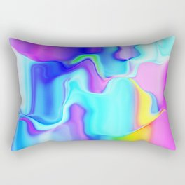 Dripping Paint 3 Rectangular Pillow