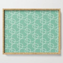 Bubble Pattern Mint #homedecor Serving Tray