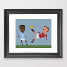 Rooney Bicycle Kick Framed Art Print
