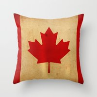 canada Throw Pillows featuring Canada by NicoWriter