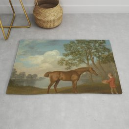 George Stubbs - Pumpkin with a Stable-lad Rug