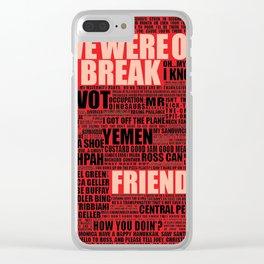 Friends (red) Clear iPhone Case
