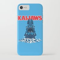 pacific rim iPhone & iPod Cases featuring KaiJaws (Pacific Rim/Jaws) by Tabner's
