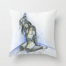 Fall Apart Rag Doll Throw Pillow