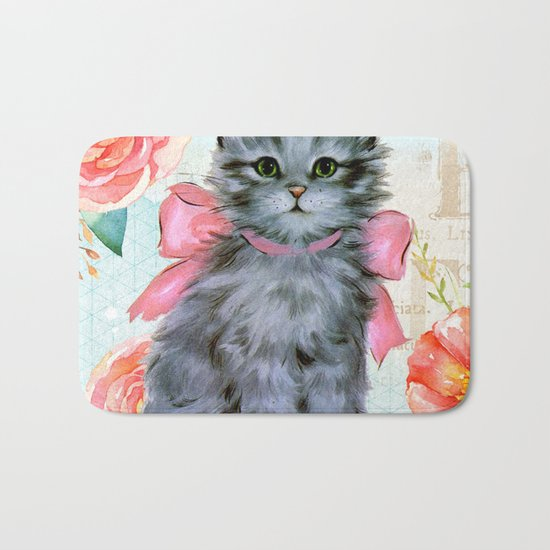 Sweet animal #2 Bath Mat