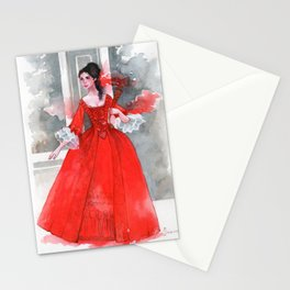 The red dress Stationery Cards
