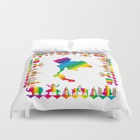 thailand Duvet Covers featuring Rainbow Thailand by FACTORIE