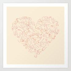 Penis Heart Art Print