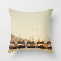 School Days Throw Pillow