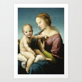 "Raffaello Sanzio da Urbino ""Large Cowper Madonna"", 1508 Art Print"