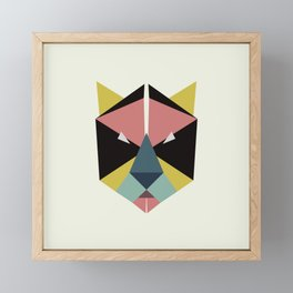 blooming tiger Framed Mini Art Print