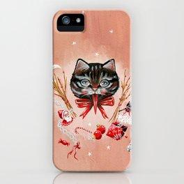 Pink Krampus cat iPhone Case