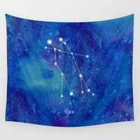 constellation Wall Tapestries featuring Constellation Gemini by ShaMiLa