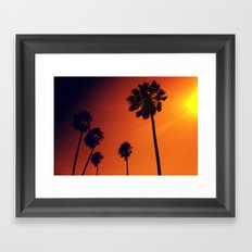 Palm Trees in the Sun Framed Art Print