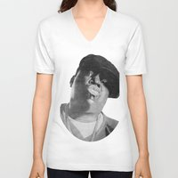 notorious V-neck T-shirts featuring Notorious B.I.G by tyler Guill