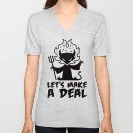 Let's Make A Deal With The Devil Unisex V-Neck