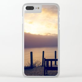 Sunset at a Bench Clear iPhone Case