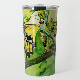 Lime Tree Butterfly II Travel Mug