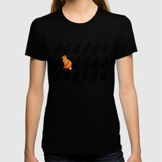 ODD CAT OUT X-LARGE Womens Fitted Tee Black