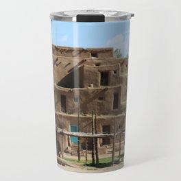 A Taos Pueblo Building Travel Mug